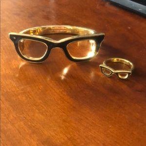 Matching bracelet and ring set